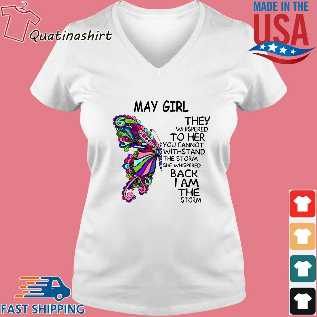 Butterfly May girl they whispered to her you cannot withstand the storm she whispered back I am the storm s Vneck trang