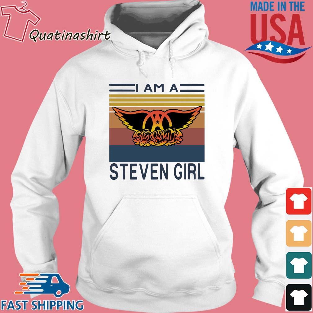 I am a Aerosmith Steven girl vintage s Hoodie trang