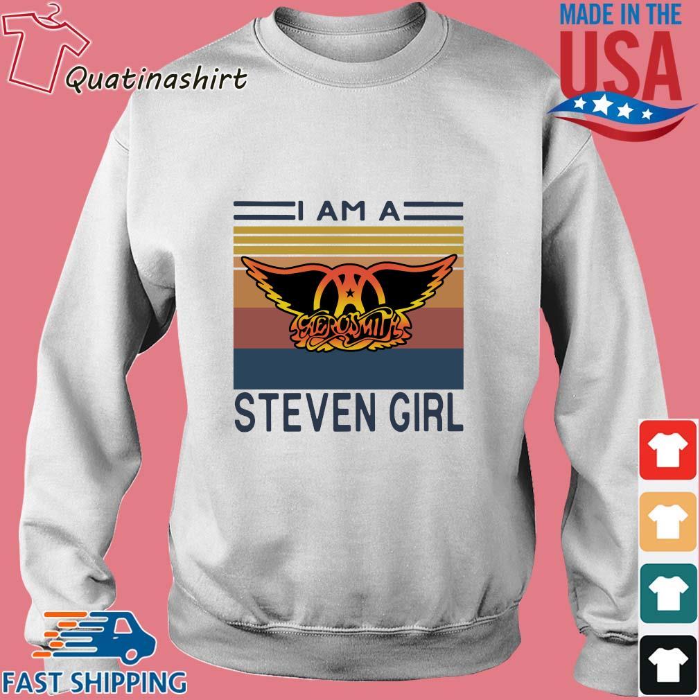 I am a Aerosmith Steven girl vintage s Sweater trang