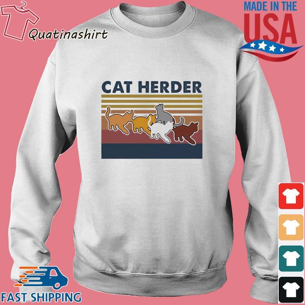 Cat herder Vintage s Sweater trang
