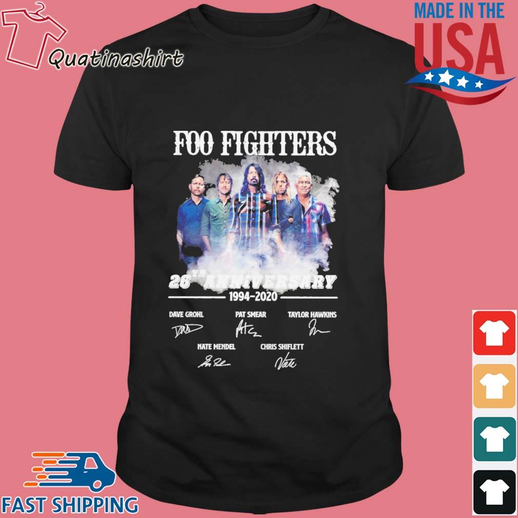 Foo Fighters 26th Anniversary 1994 2020 Signatures shirt