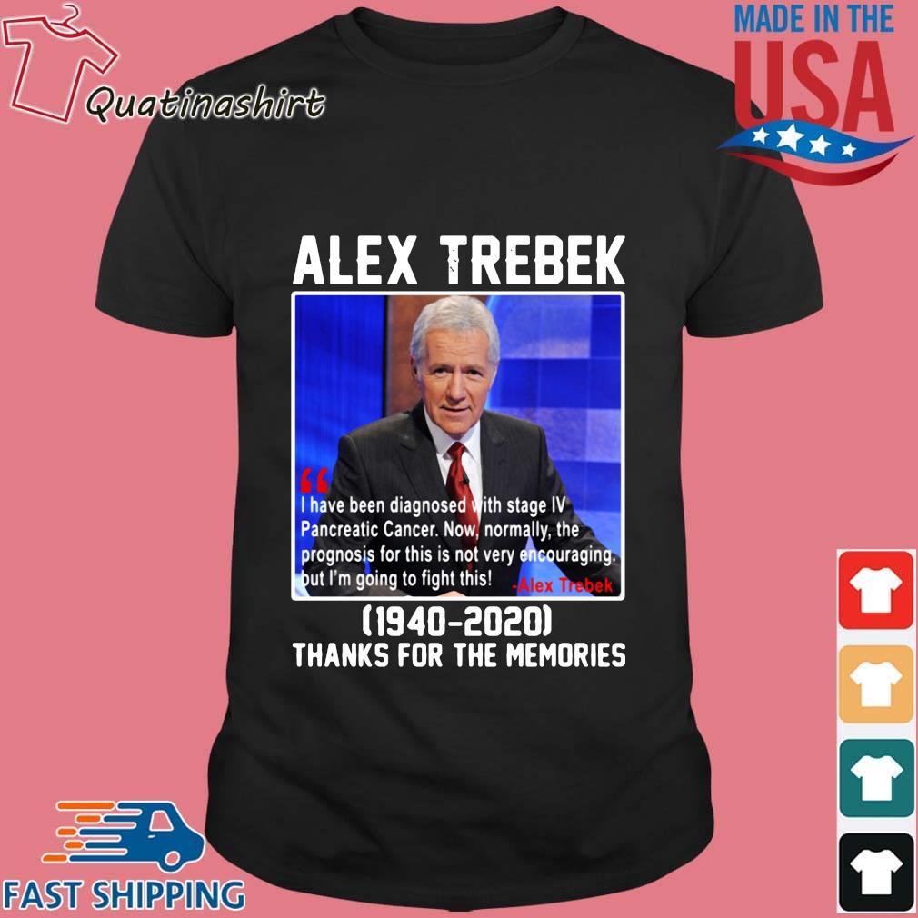 Alex Trebek 1940-2020 thanks for the memories shirt