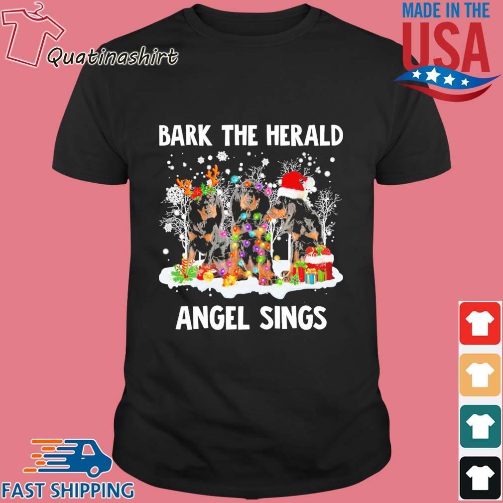 Black Tan Coonhound bark the herald Angel sings Merry Christmas shirt