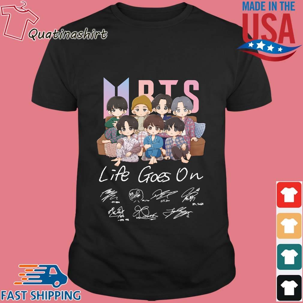 BTS life goes on signatures shirt