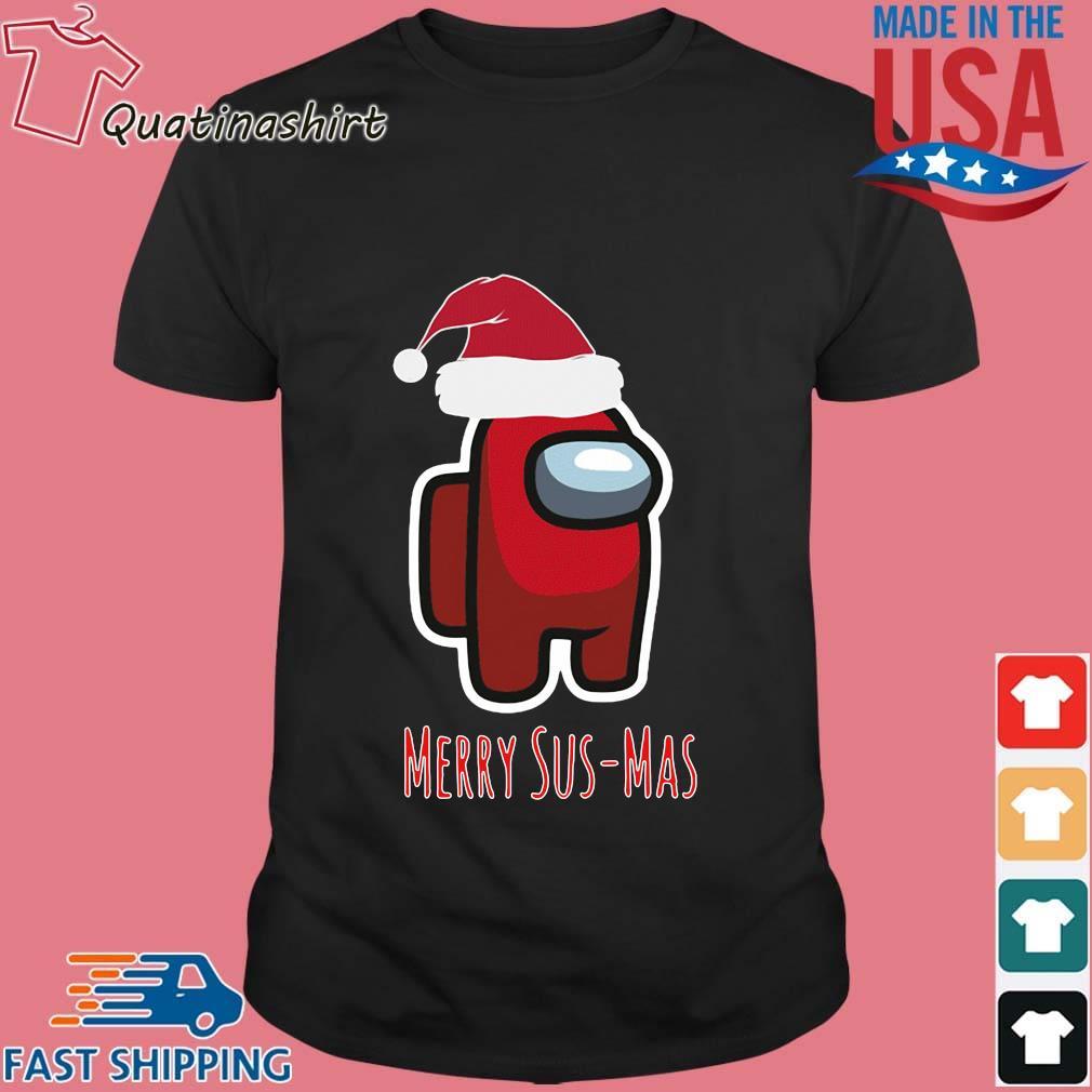 Red Among Us Santa Merry Sus-Mas Christmas Sweater
