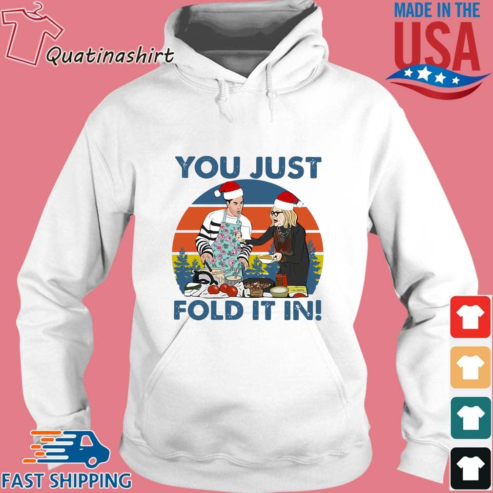 Schitts Creek Fold you just fold it in vintage Christmas sweater Hoodie trang