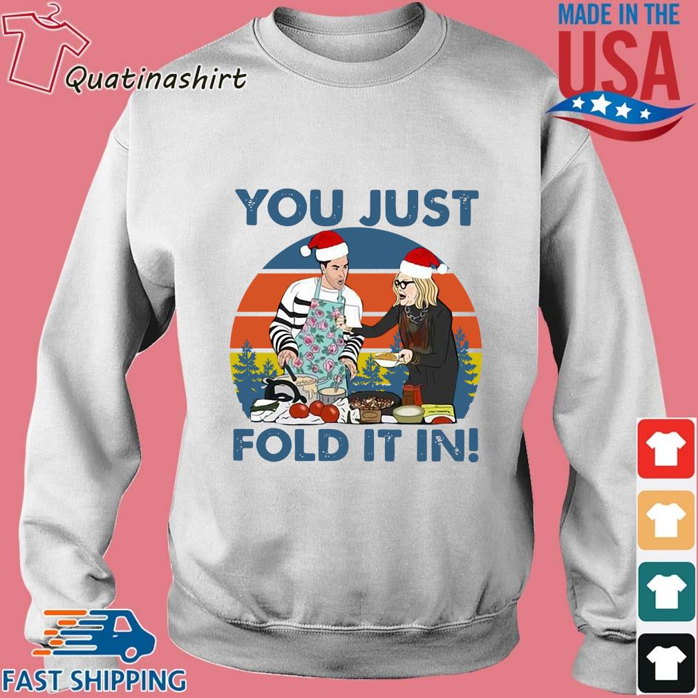 Schitts Creek Fold you just fold it in vintage Christmas sweater Sweater trang