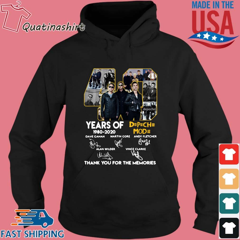 40 years of DPCH MOD 1980 2020 signatures thank you for the memories s Hoodie den