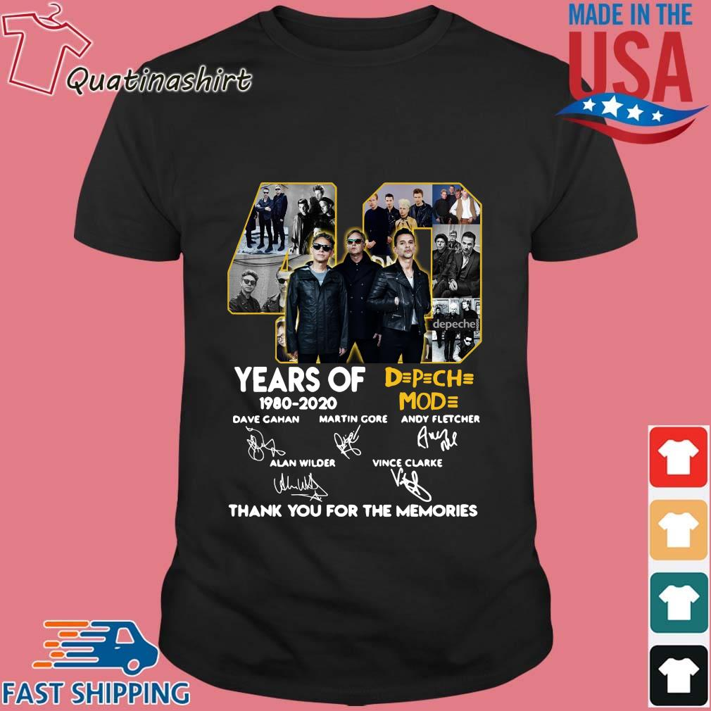40 years of DPCH MOD 1980 2020 signatures thank you for the memories s Shirt den