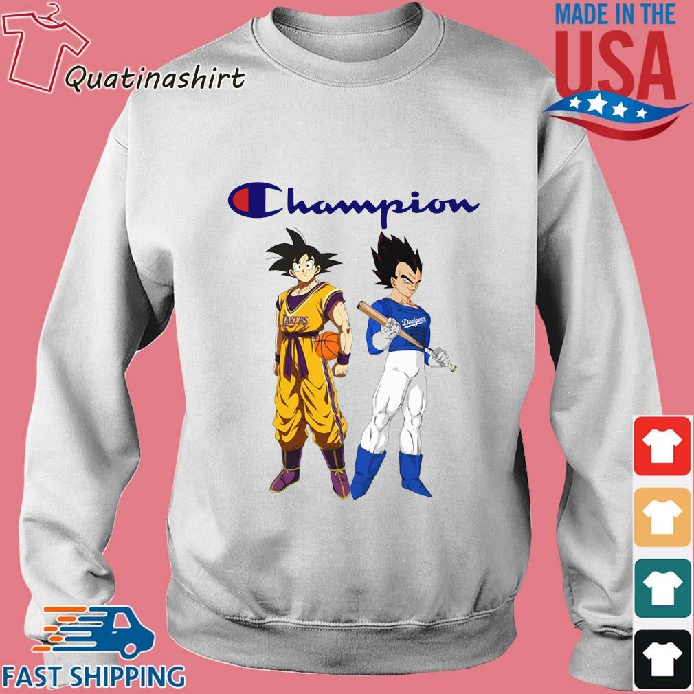 Son Goku and Vegeta Champions Los Angeles Dodgers and Los Angeles Lakers shirt