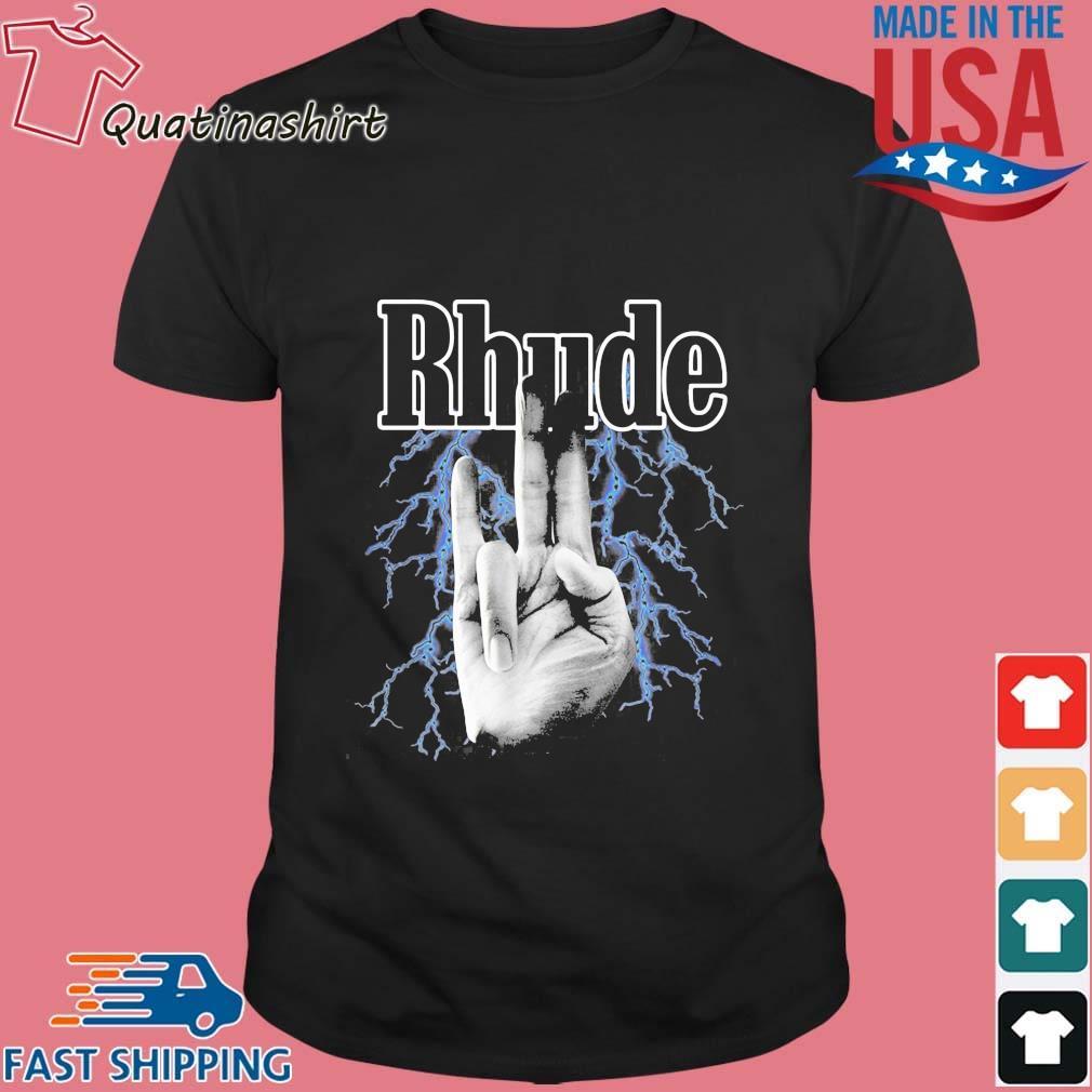 2021 Summer Style Rhude Finger Shirt