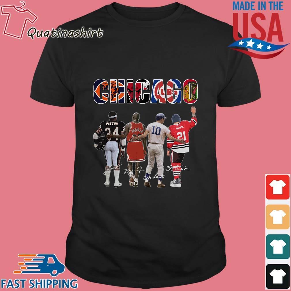 Chicago Chicago Bears Chicago Bulls Chicago Cubs Payton Jordan Mikita Signatures Shirt