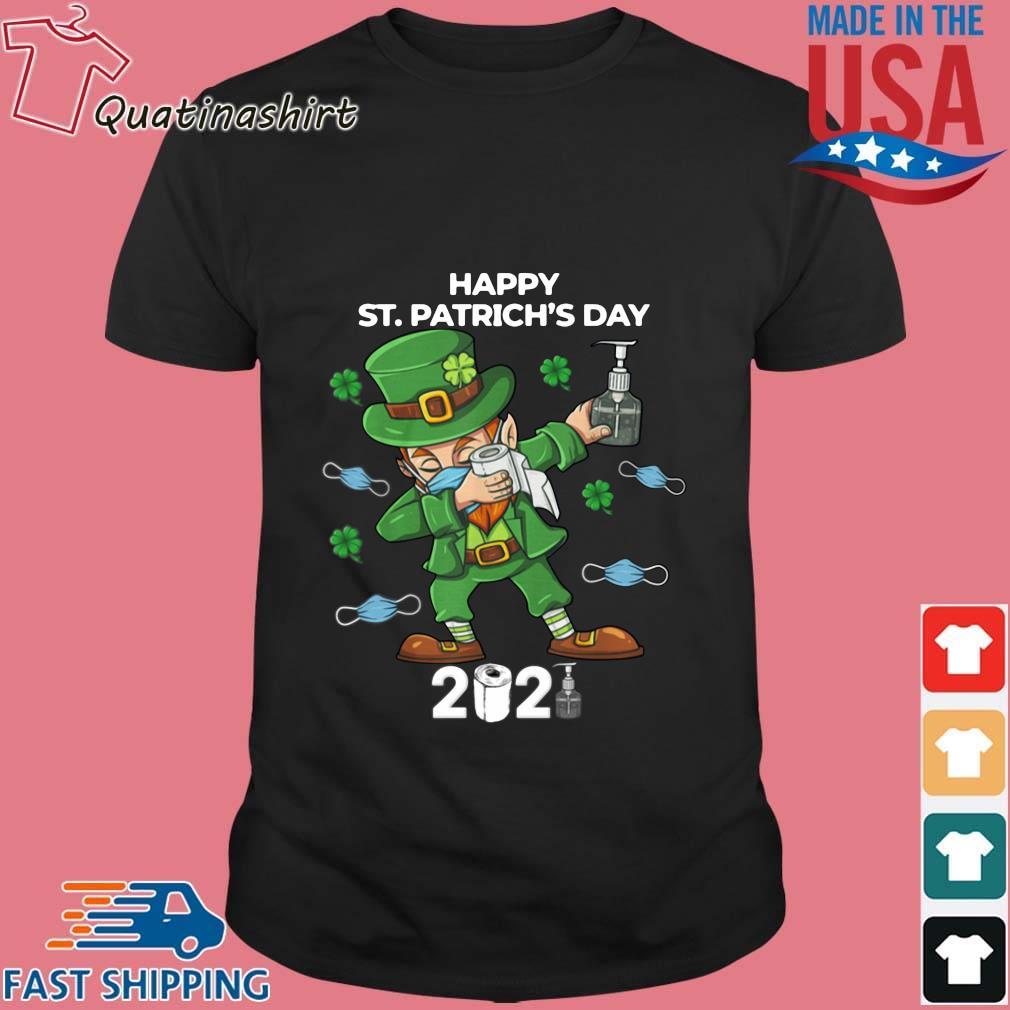 Dabbing happy St. Patrick's day 2021 shirt