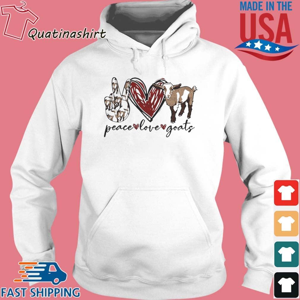 Peace Love Goats Shirt Hoodie trang