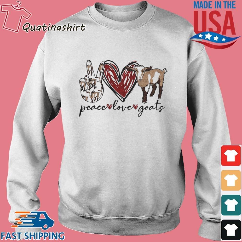 Peace Love Goats Shirt Sweater trang