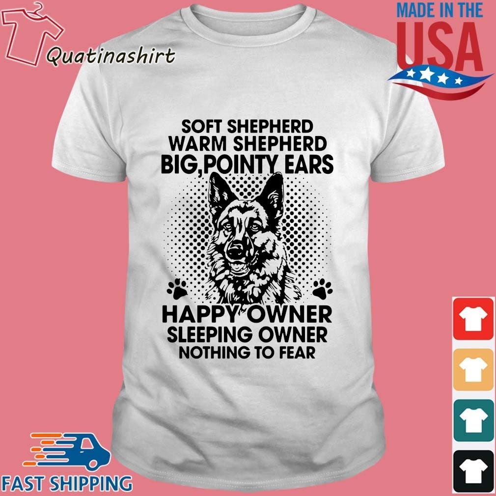 Soft shepherd warm shepherd dog pointy ears happy owner sleeping shirt