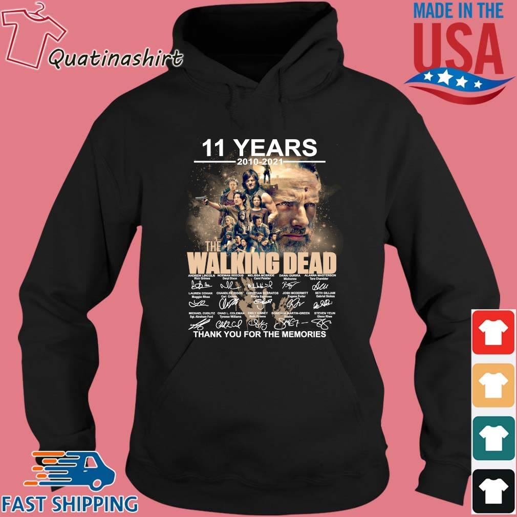 11 years 2010-2021 The Walking Dead thank you for the memories signatures s Hoodie den