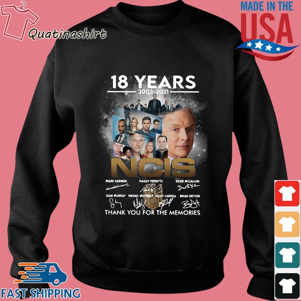 18 years 2003-2021 NCIS Character thank you for the memories signatures s Sweater den
