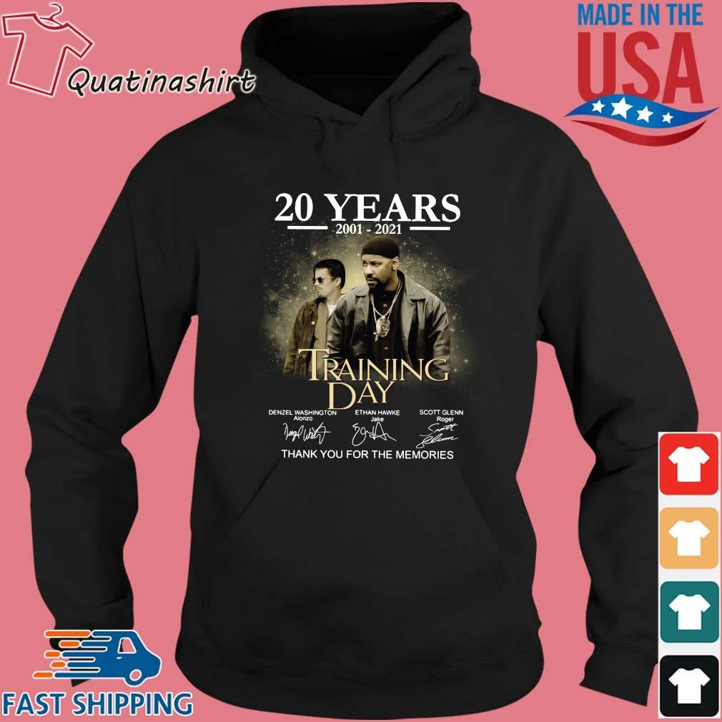 20 years 2001-2021 Training Day thank you for the memories signatures s Hoodie den