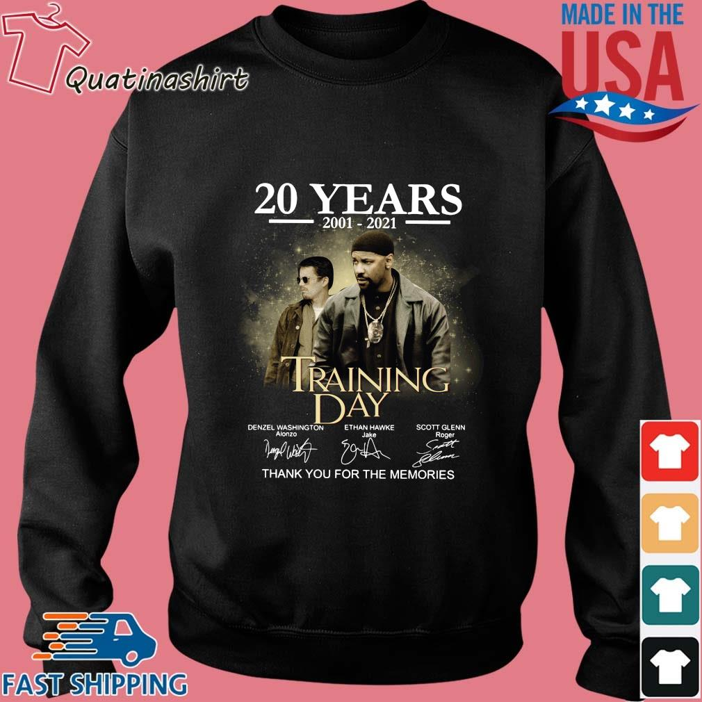20 years 2001-2021 Training Day thank you for the memories signatures s Sweater den
