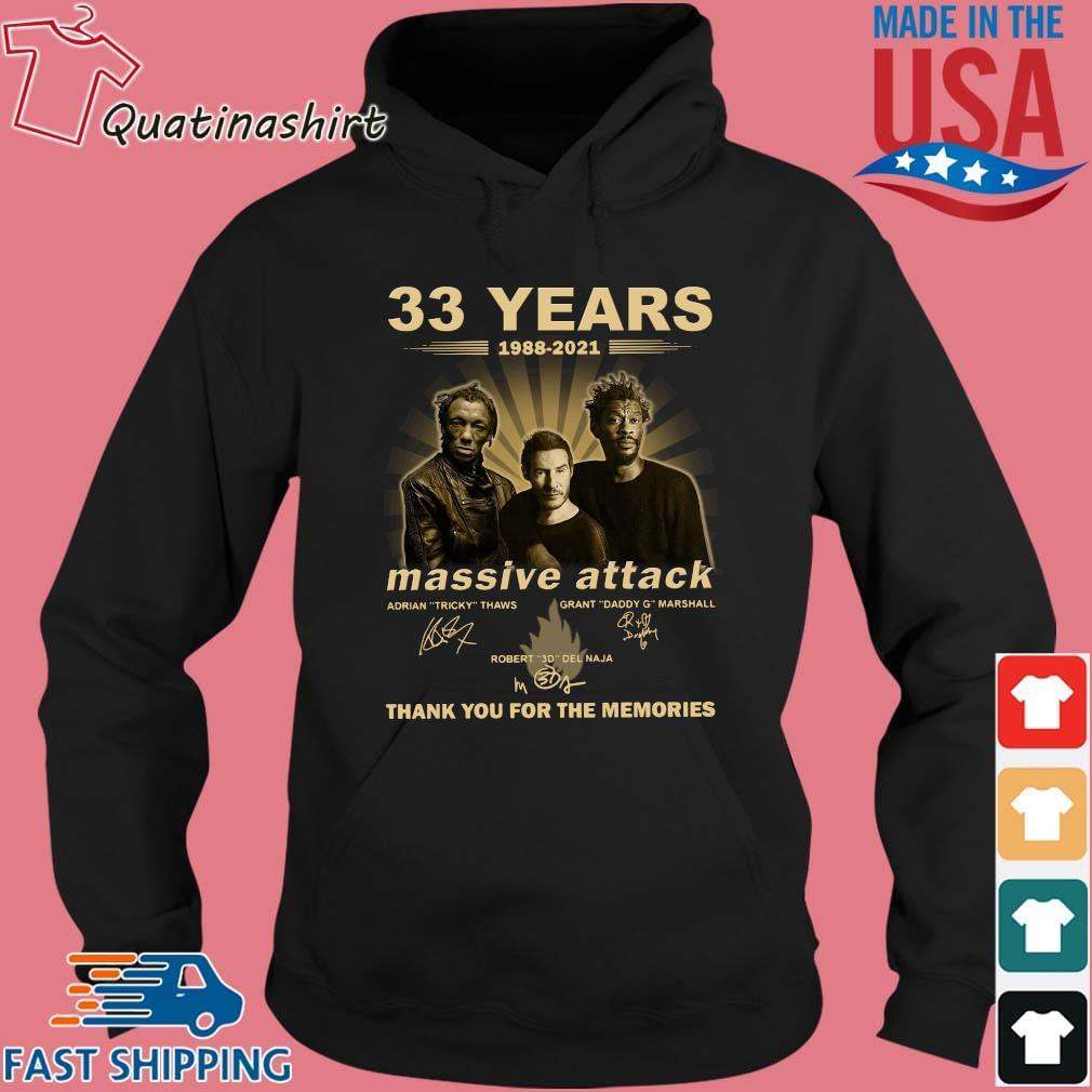 33 Years 1988 2021 Massive Attack Signatures Thank You For The Memories Shirt Hoodie den