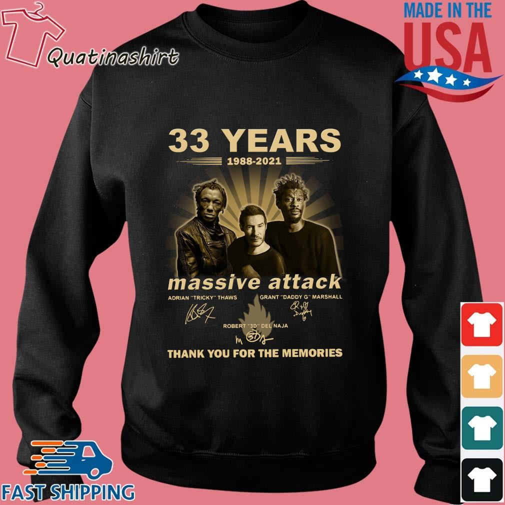 33 Years 1988 2021 Massive Attack Signatures Thank You For The Memories Shirt Sweater den