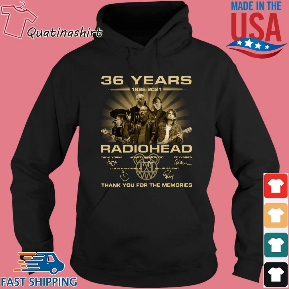 36 Years Radiohead Thank You For The Memories Signatures Shirt Hoodie den