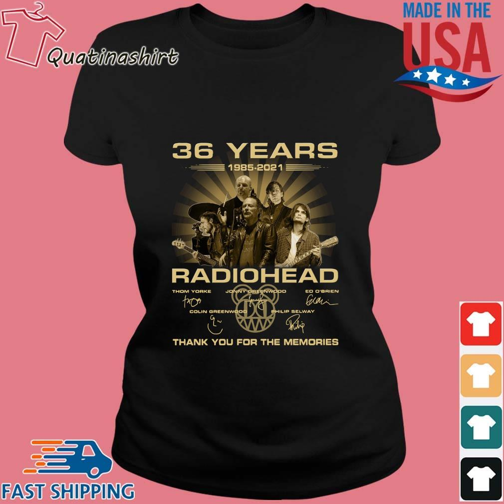 36 Years Radiohead Thank You For The Memories Signatures Shirt Ladies den