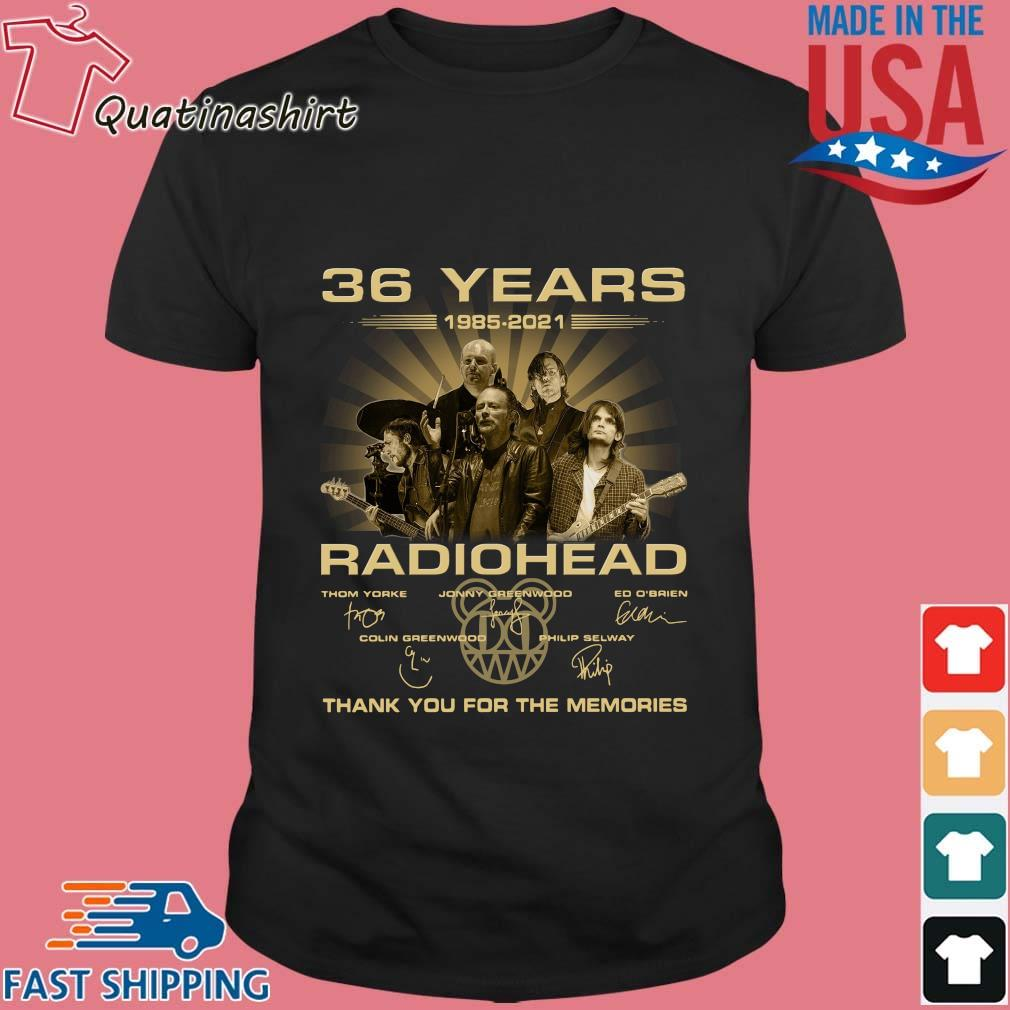 36 Years Radiohead Thank You For The Memories Signatures Shirt