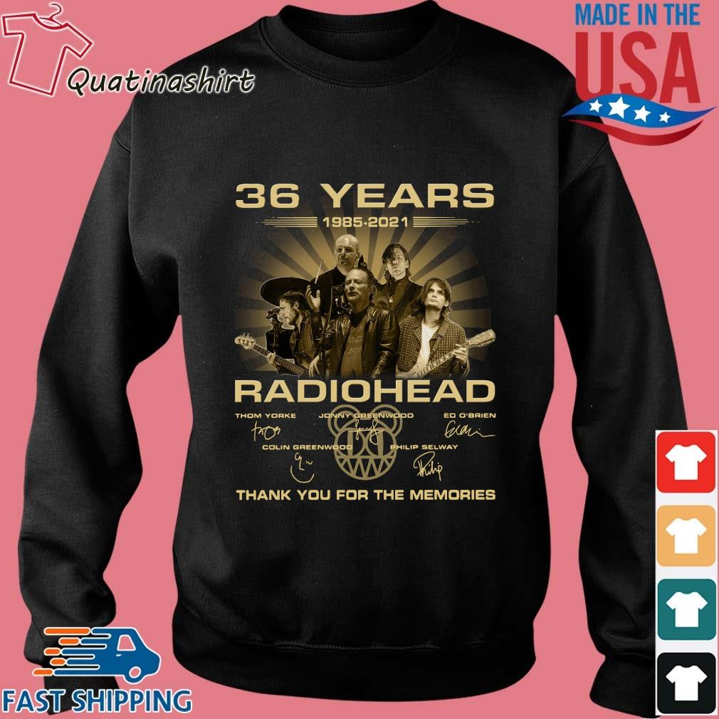 36 Years Radiohead Thank You For The Memories Signatures Shirt Sweater den