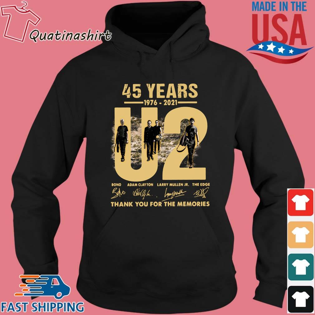 45 Years 1976-2021 U2 Bono Adam Clayton Thank You Signatures Shirt Hoodie den