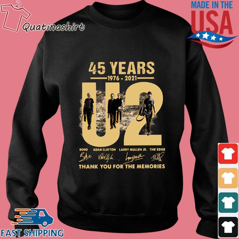 45 Years 1976-2021 U2 Bono Adam Clayton Thank You Signatures Shirt Sweater den