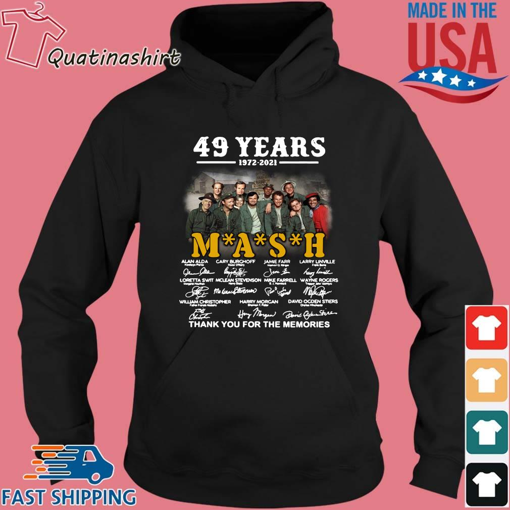 49 years 1972-2021 Mash thank you for the memories signatures s Hoodie den