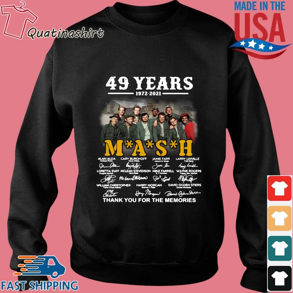 49 years 1972-2021 Mash thank you for the memories signatures s Sweater den