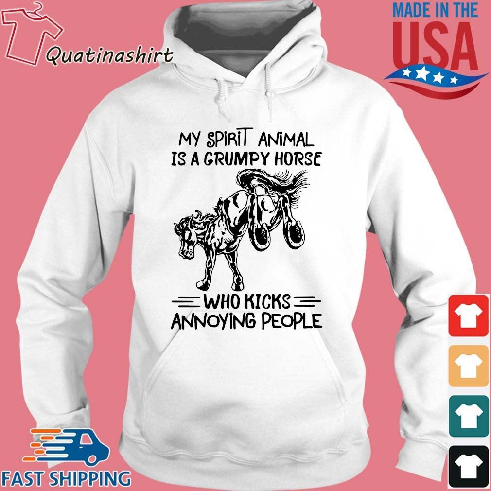 My spirit animal is a grumpy horse who kicks annoying people s Hoodie trang