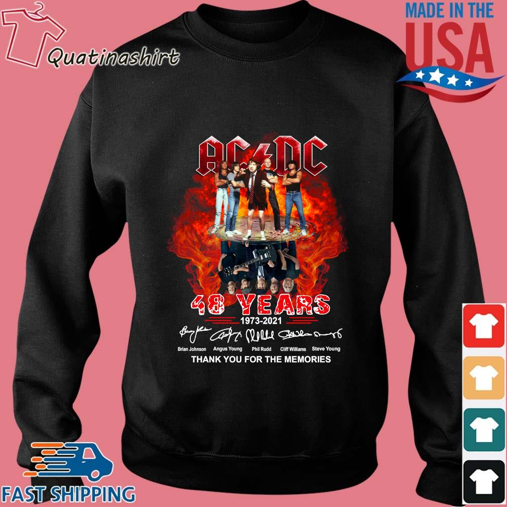 ACDC 48 years 1973 2021 thank you for the memories signatures s Sweater den