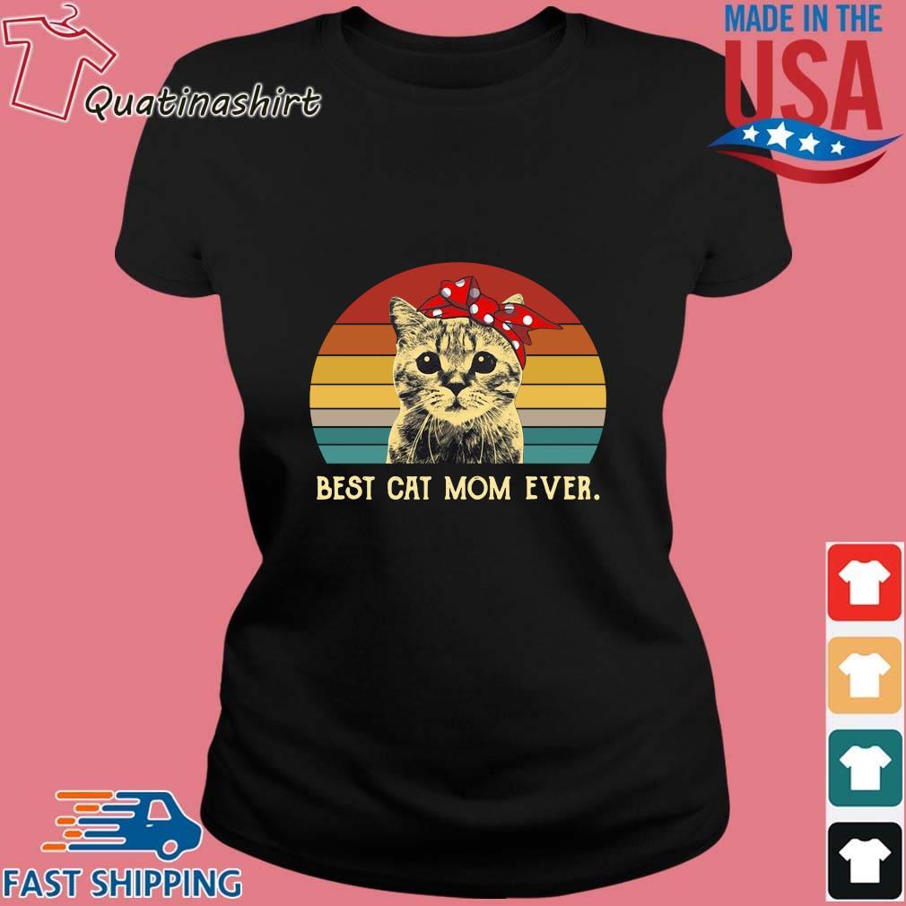 Cat best cat mom ever vintage sunset s Ladies den
