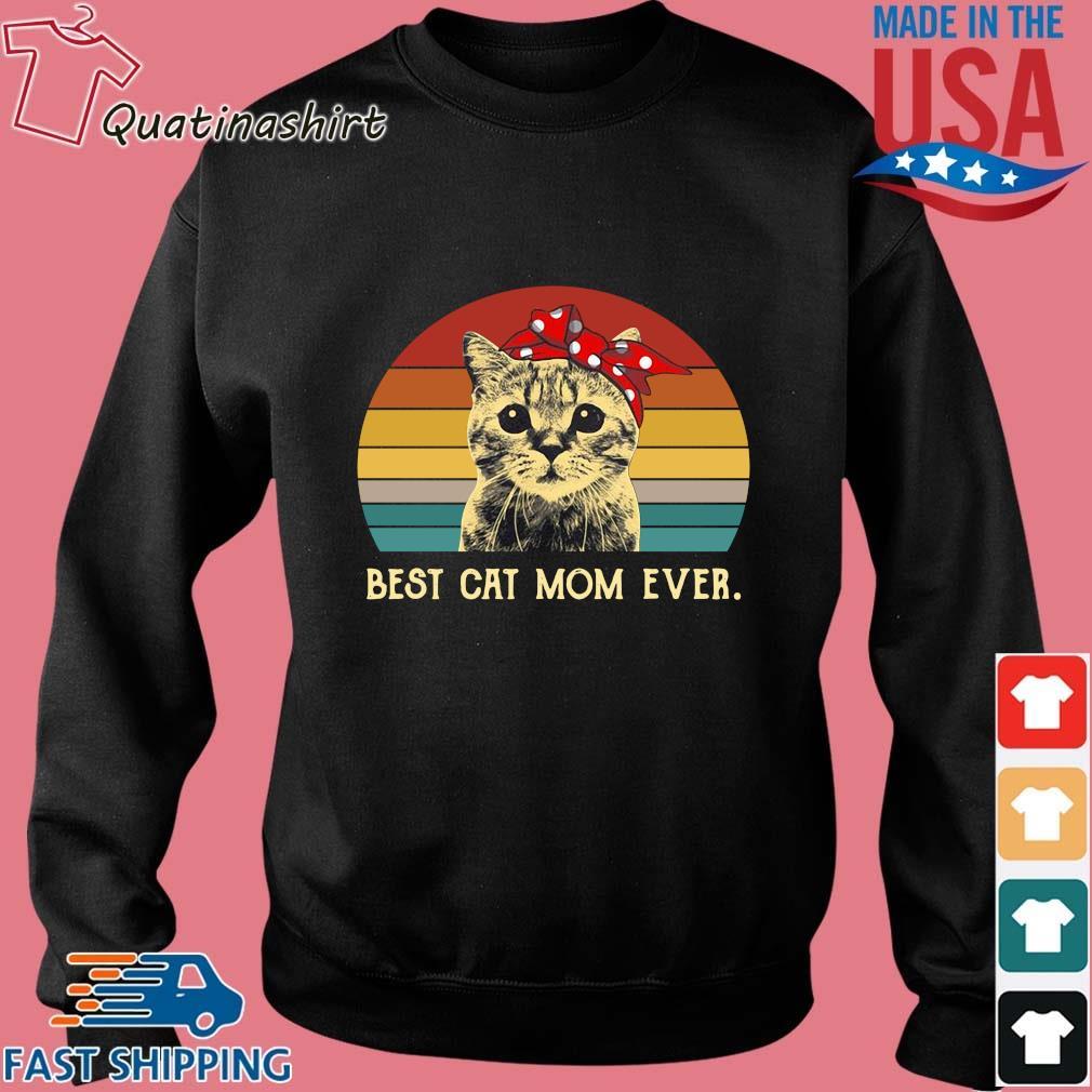 Cat best cat mom ever vintage sunset s Sweater den
