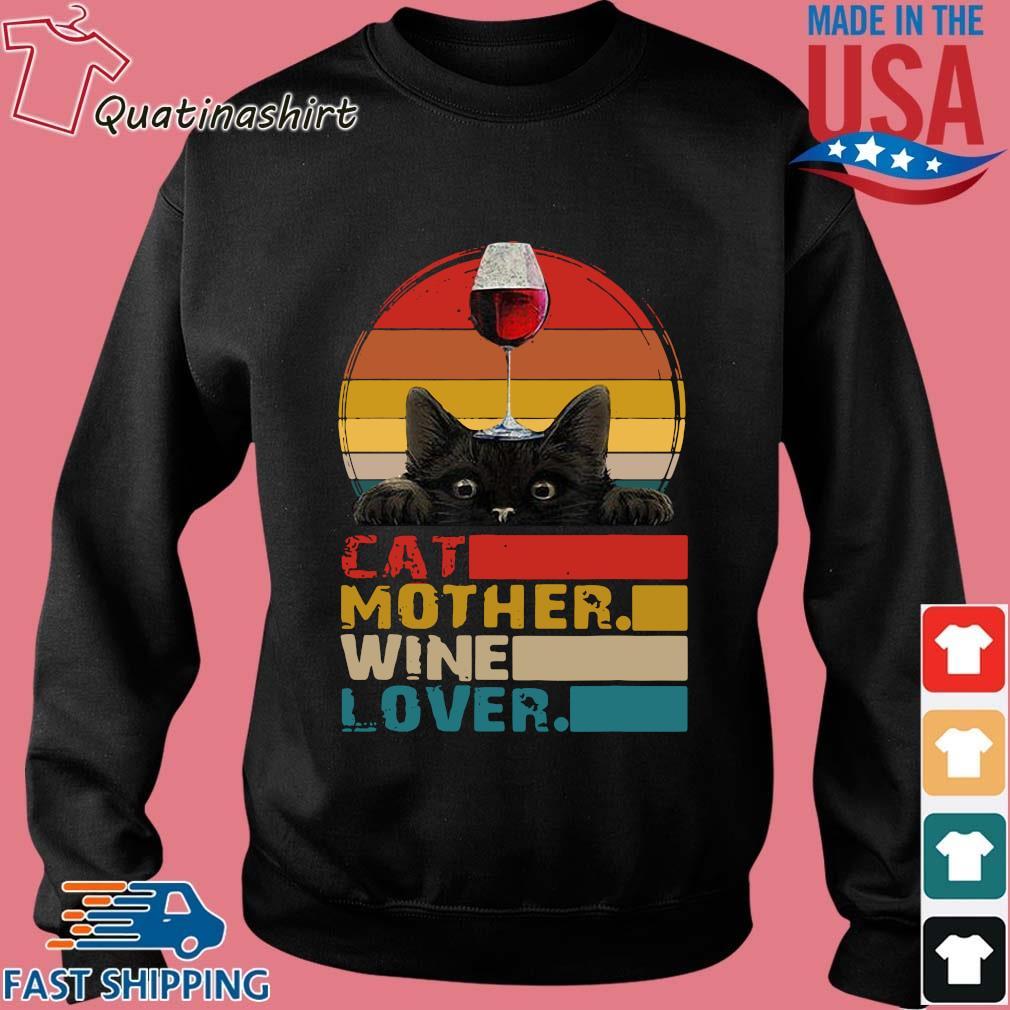 Cat mother wine lover vintage s Sweater den
