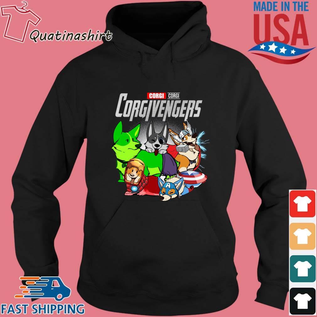 Corgi Corgivengers Avengers Shirt Hoodie den