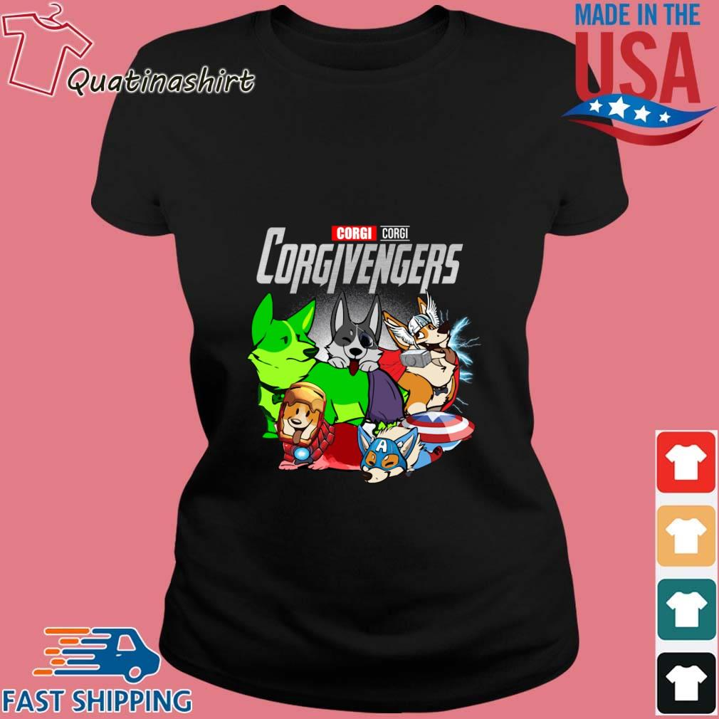 Corgi Corgivengers Avengers Shirt Ladies den