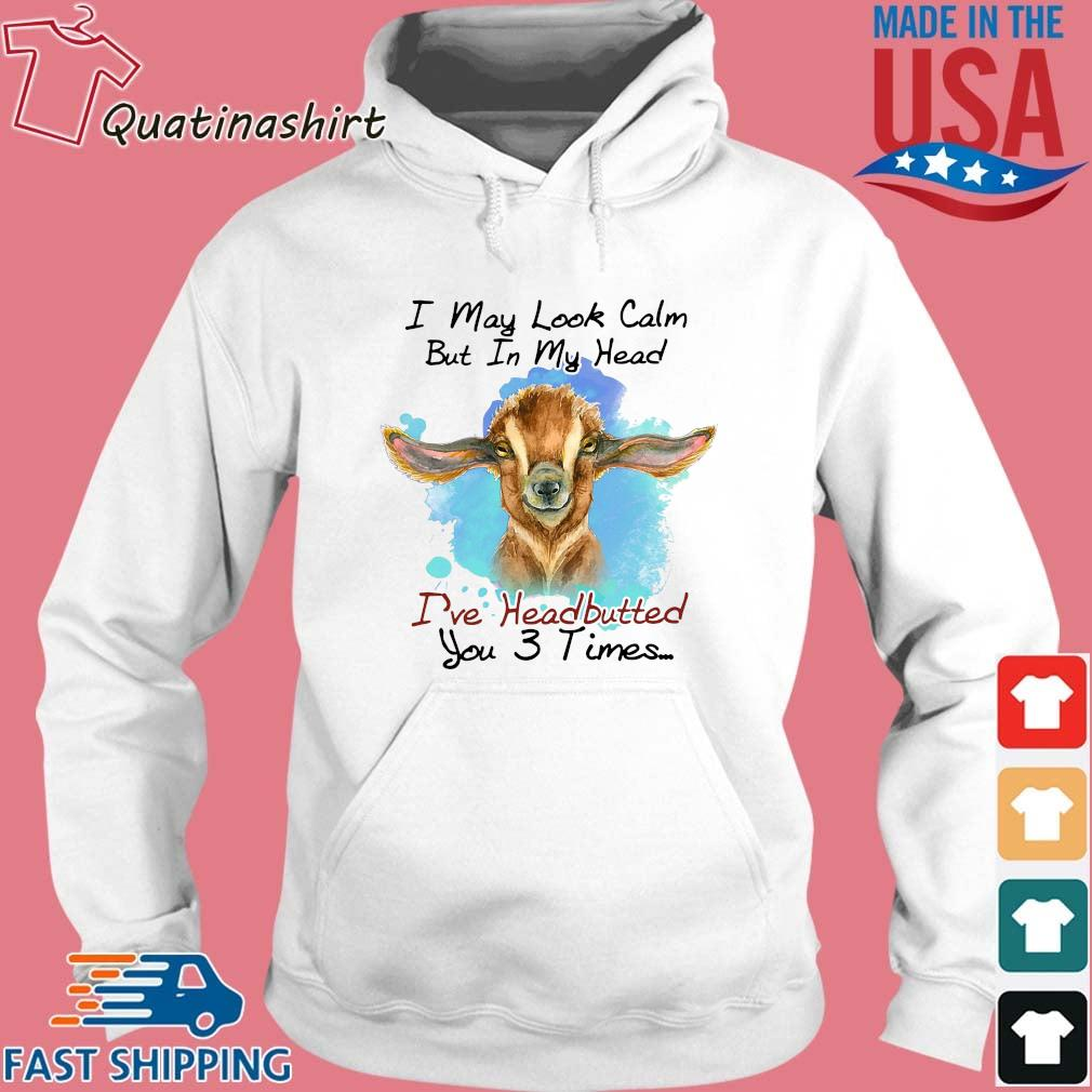 Cow I May Look Calm But In My Head I've Headbutted You 3 Times Shirt Hoodie trang