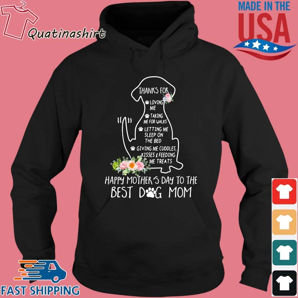 Dachshund happy mother's day to the best dog mom floral s Hoodie den