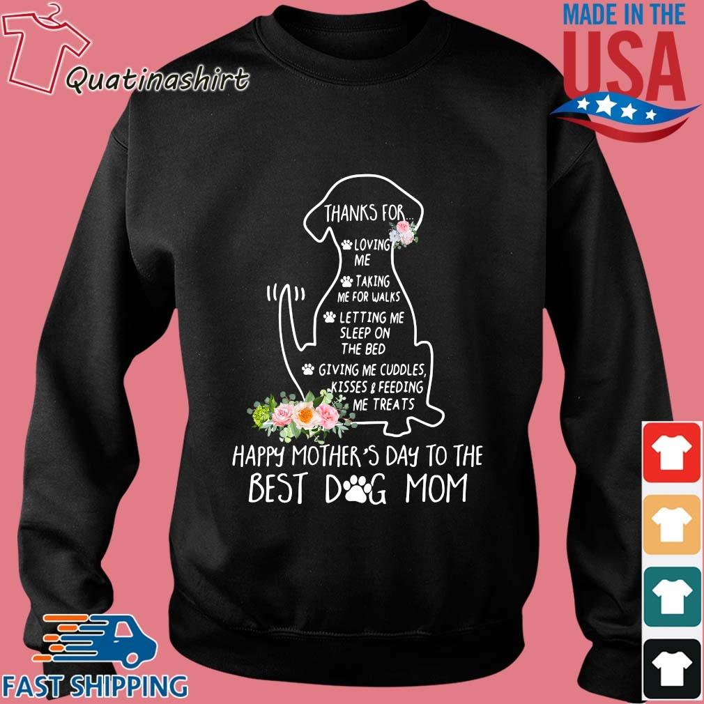 Dachshund happy mother's day to the best dog mom floral s Sweater den