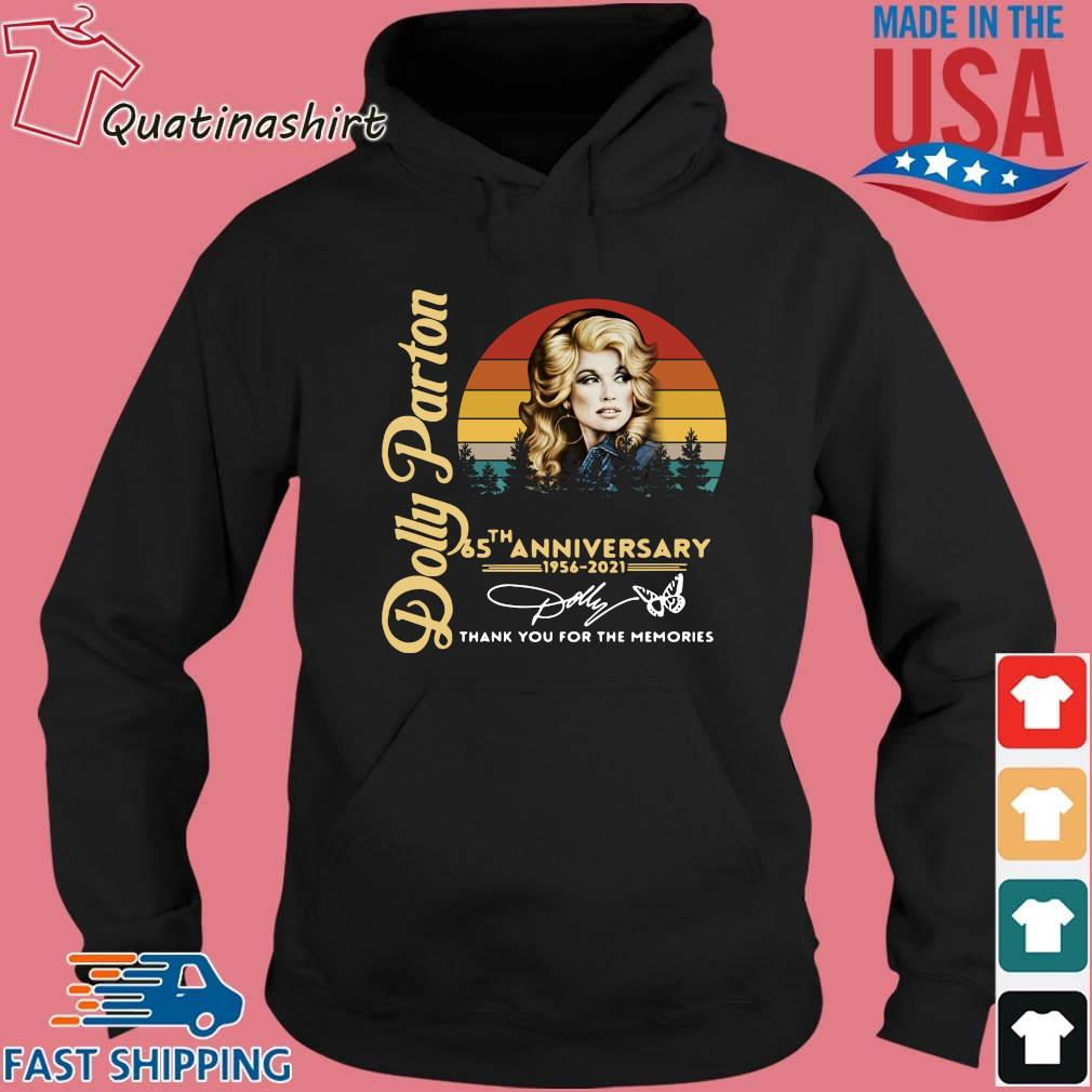 Dolly Parton 65 The Anniversary 1956 2021 Thank You For The Memories Signature Vintage Shirt Hoodie den