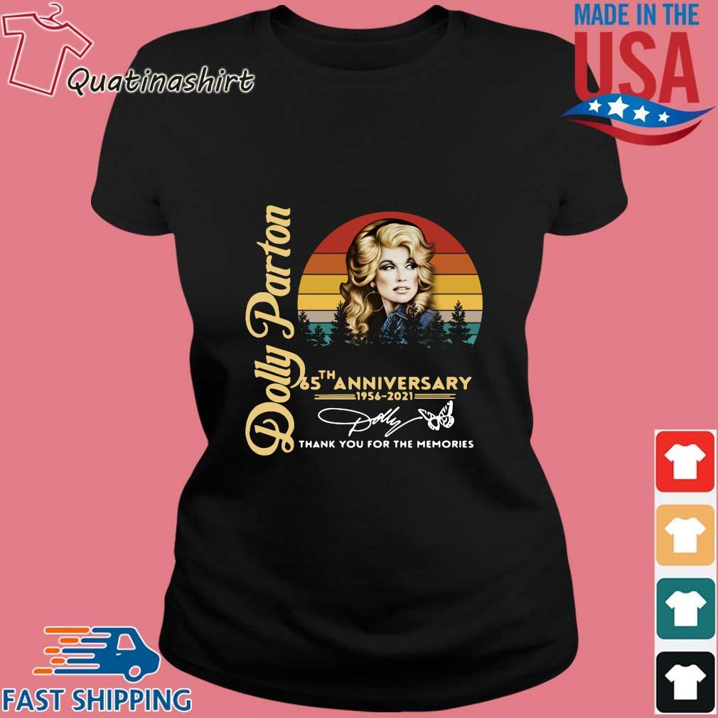 Dolly Parton 65 The Anniversary 1956 2021 Thank You For The Memories Signature Vintage Shirt Ladies den