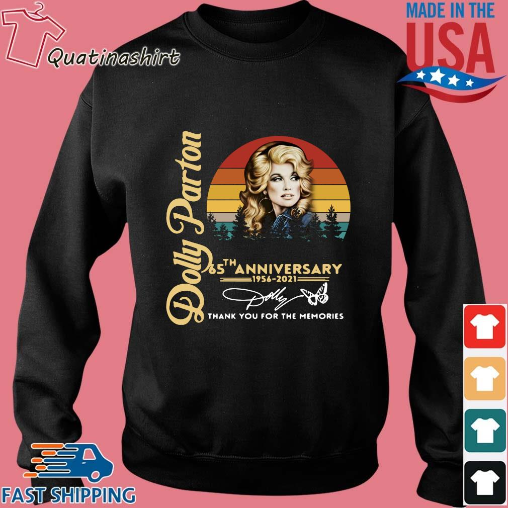 Dolly Parton 65 The Anniversary 1956 2021 Thank You For The Memories Signature Vintage Shirt Sweater den