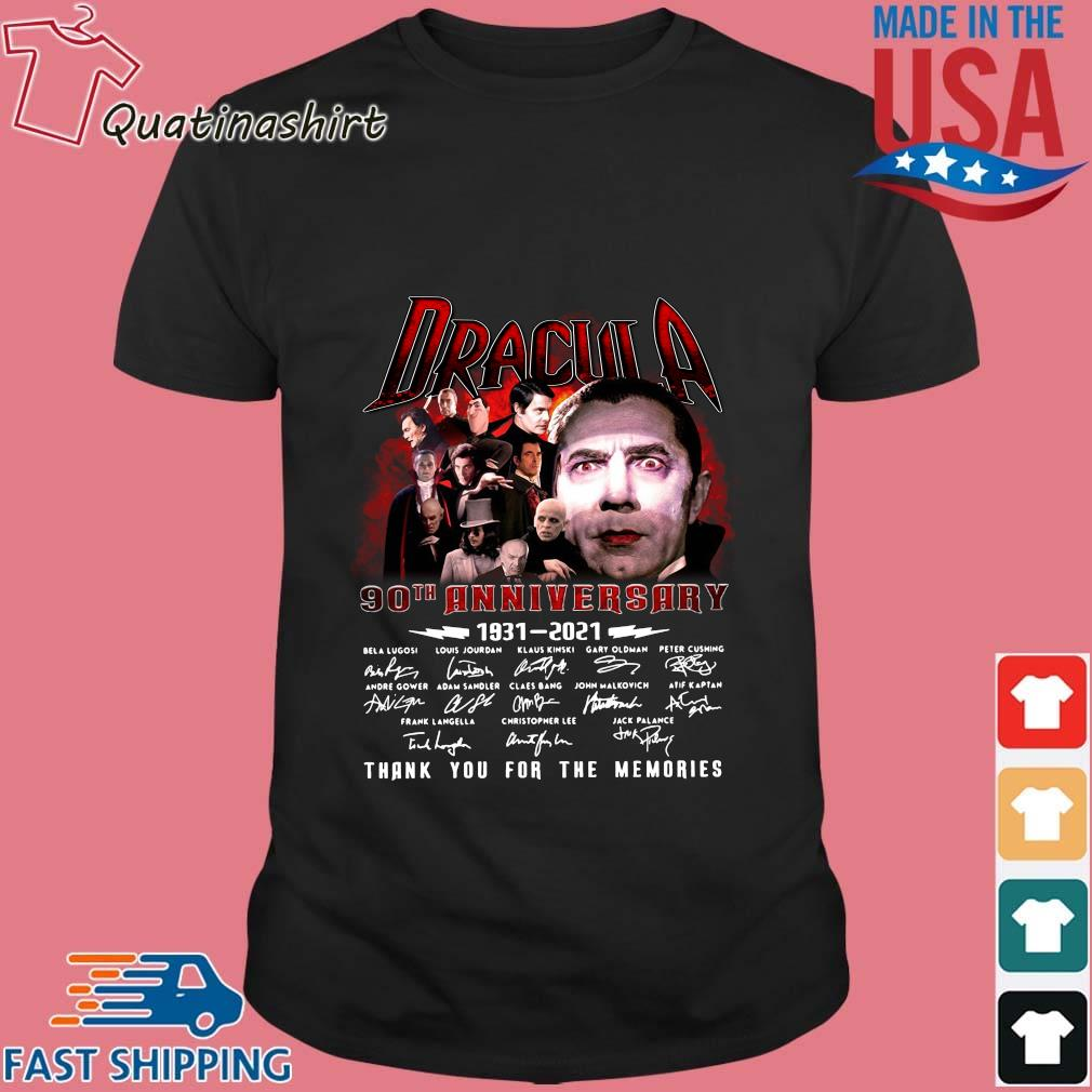Dracula 90th anniversary 1931-2021 thank you for the memories signatures shirt