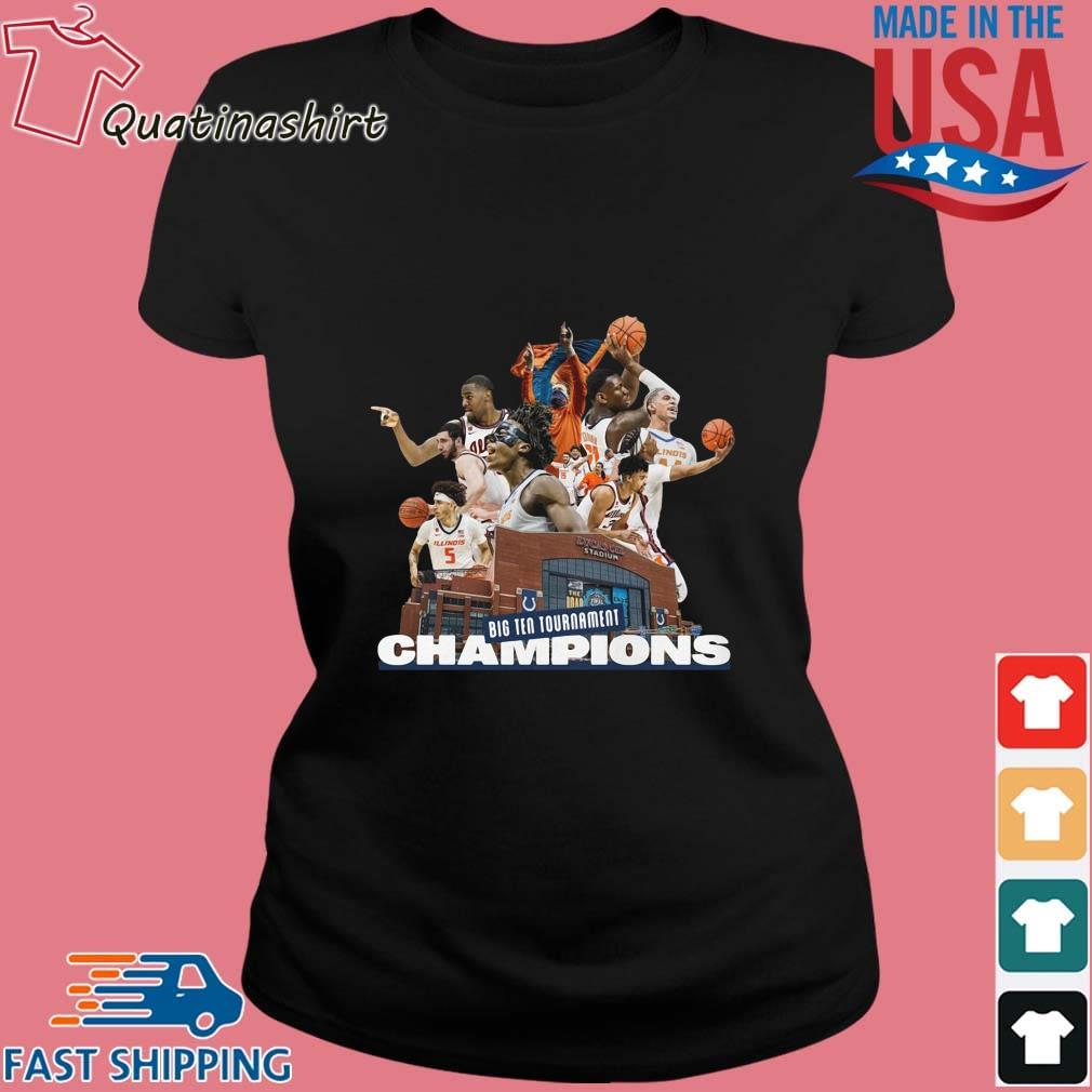 Illinois Fighting Illini Big Ten Tournament Champions Team Basketball Shirt Ladies den