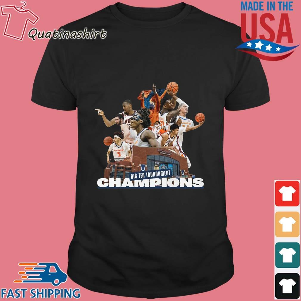 Illinois Fighting Illini Big Ten Tournament Champions Team Basketball Shirt
